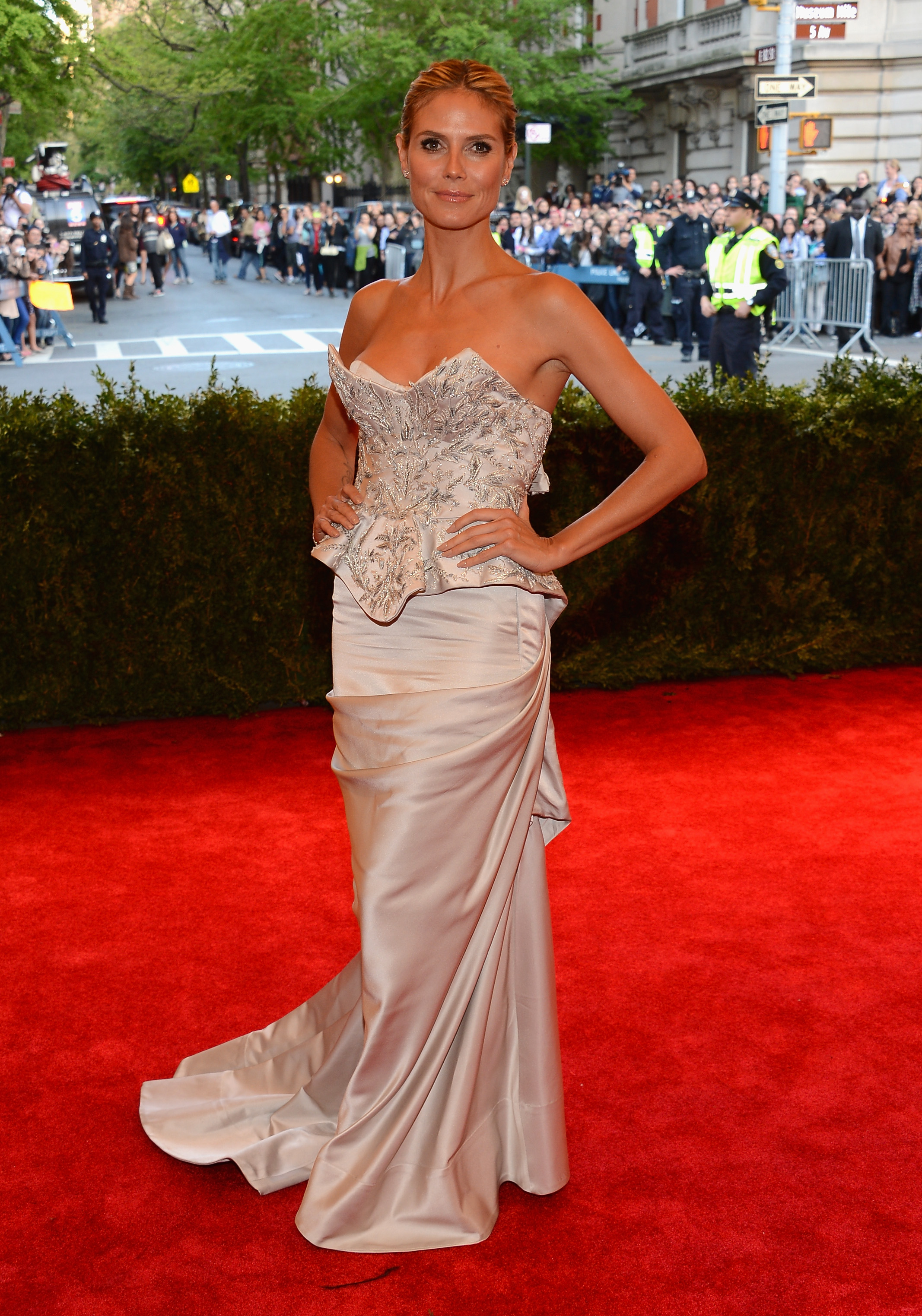 Heidi Klum at the Costume Institute Gala for the 'PUNK: Chaos to Couture' exhibition, May 6, 2013