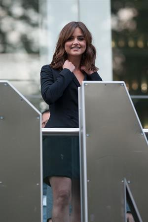 Jenna Coleman Dr. Who premiere in London August 23, 2014