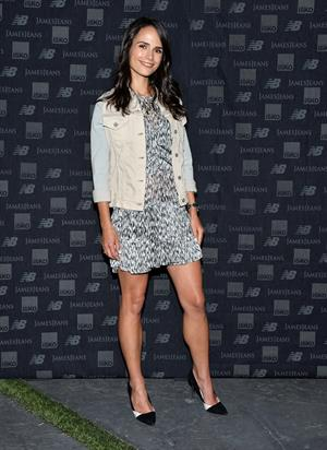 Jordana Brewster New Balance and James Jeans dance party August 19, 2014