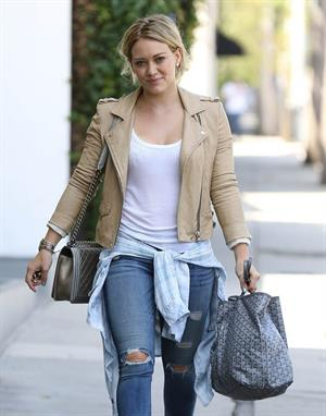Hilary Duff leaving the gym in West Hollywood