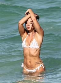 Erika Costell in a bikini