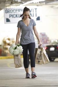 Minka Kelly grocery shopping in Los Angeles 1/14/13