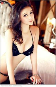 Ren Li Meng in a bikini