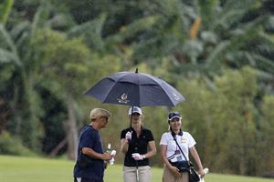 Minka Kelly Mission Hills World Celebrity Pro-Am golf tournament in Haikou - October 20, 2012