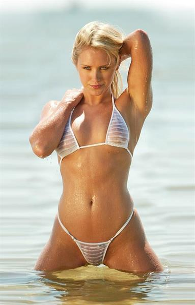 Nicky Whelan in a bikini - breasts