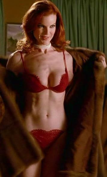 Marcia Cross in lingerie
