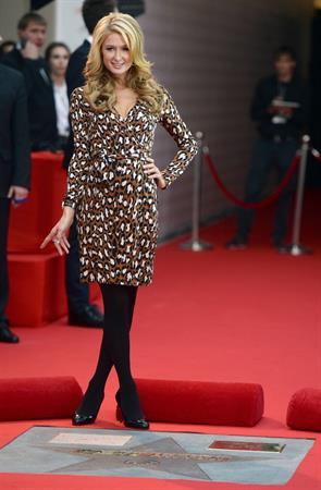 Paris Hilton Ceremony for her star at the Lyun Shopping Centre in Moscow 02.11.13