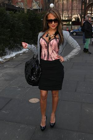 Adrienne Bailon Tracy Reese Show at Mercedes Benz Fashion Week in New York on February 15, 2010