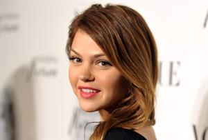 Aimee Teegarden Guess by Mmarciano Vogue 2011 holiday preview October 13, 2011