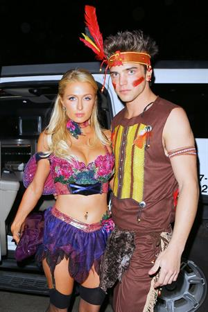 Paris Hilton at the Playboy Mansion Halloween Party in Los Angeles 10/27/12