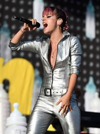 Lilly Allen performing on Day 2 of the V Festival August 17, 2014