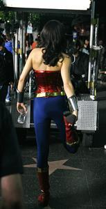 Adrianne Palicki on Wonder Woman set 3/31/2011