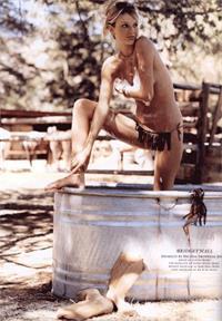 Bridget Hall in a bikini
