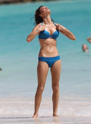 Alessandra Ambrosio in a bikini for a Victoria's Secret photo shoot on July 22, 2010 in St. Barts