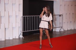 Alessandra Ambrosio Colcci fashion show red carpet January 30, 2011