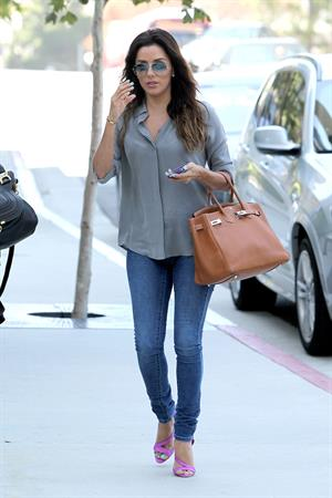 Eva Longoria stops by the CAA Office looking Business Chic August 14, 2014