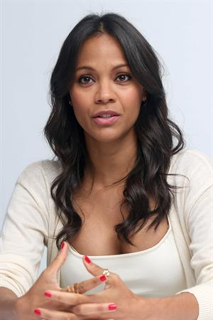 Zoe Saldana Guardians of the Galaxy press conference in Burbank on July 25, 2014