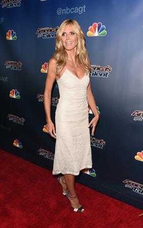 Heidi Klum at Americas Got Talent season 9 post show red carpet event on July 30, 2014