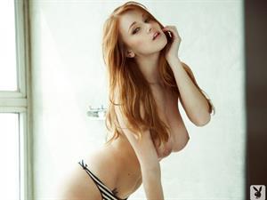 Leanna Decker Topless Playboy Photoshoot
