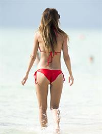 Audrina Patridge in a bikini in Miami Beach shooting a segment for 1st Look on August 12, 2014