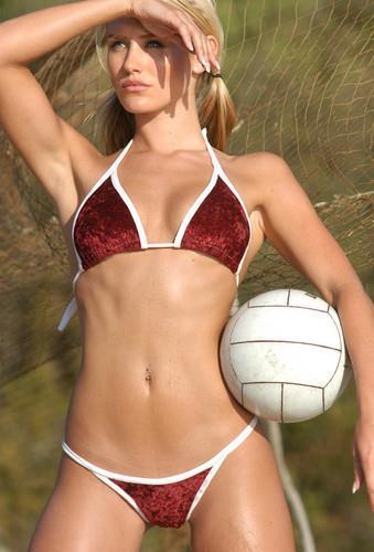 Nicky Whelan in a bikini