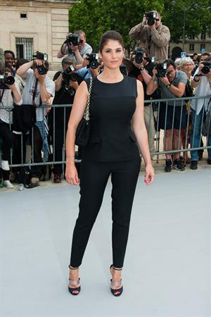 Gemma Arterton attending Christian Dior show during Paris Haute Couture Fashion Week - July 1, 2013