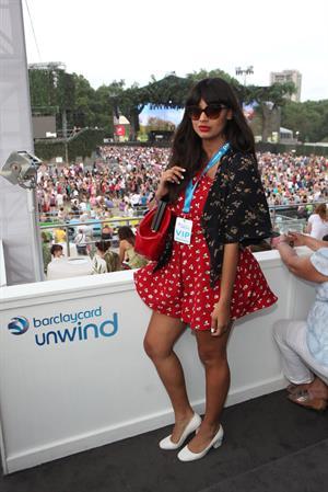 Jameela Jamil Barclaycard British Summer Time Concert in London, Jul. 14, 2013