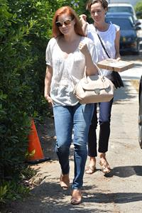 Amy Adams leaves a private party in Brentwood on August 10, 2014