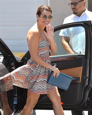 Lea Michele leaves a private party in Brentwood on August 10, 2014