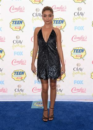 Sarah Hyland attending the 2014 Teen Choice Awards in Los Angeles on August 10, 2014