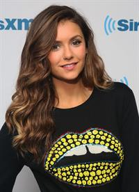Nina Dobrev visits SiriusXM Studios in New York City on August 4, 2014