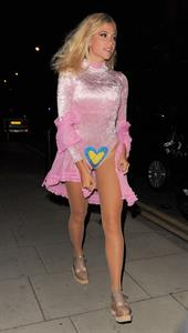 Pixie Lott leaving Freedom Bar in London, England on July 30, 2014