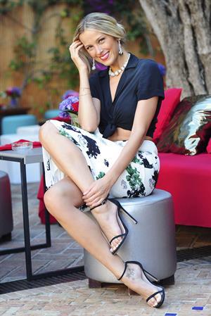 Petra Nemcova poses during a photo shoot in Marbella
