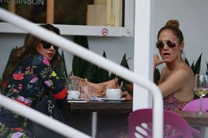 Jennifer Lopez and Leah Remini shopping at Fred Segal in Los Angeles on July 30, 2014