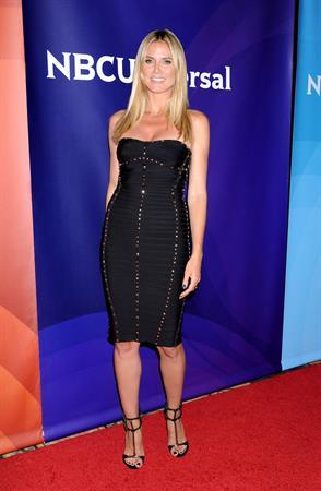 Heidi Klum attending the NBC Universal Summer Press Day in Pasadena on April 22, 2013