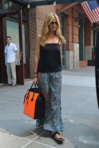 Heidi Klum leaving her hotel in New York on June 29, 2013