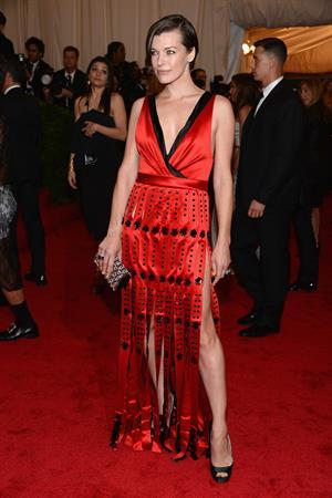 Milla Jovovich attending Metropolitan Museum of Arts Costume Institute Gala, May 7, 2012