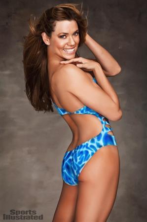 Natalie Coughlin in body paint - ass