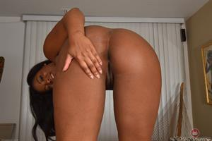 Chubby Monique Symone on the couch