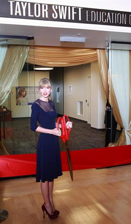 Taylor Swift Opening of the Taylor Swift Education Center in Nashville, October 12, 2013