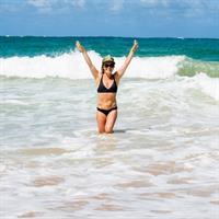 Jamie Anderson in a bikini