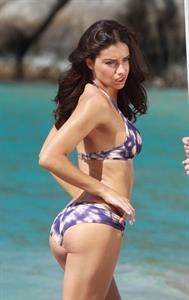 Adriana Lima in a bikini - ass