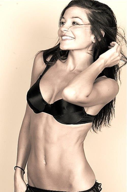 Jillian Welsh in lingerie