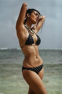 Megan Young in a bikini