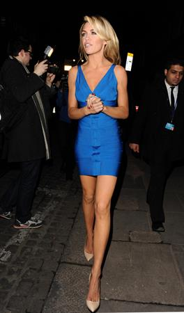 Abigail Clancy opening of Superdrug Store on the strand in London 08.02.12