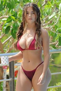 Demi Rose Mawby in a bikini