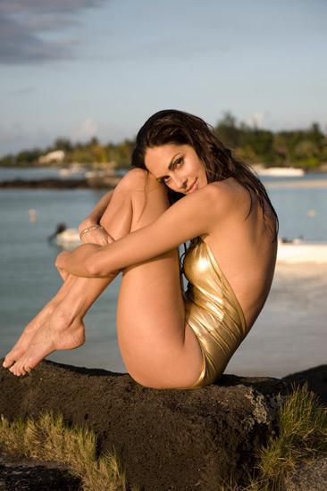 Tasha de Vasconcelos in a bikini