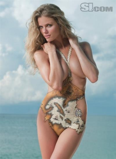 Brooklyn Decker in body paint
