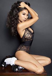 Hiromi Oshima in lingerie