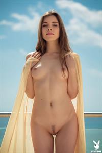 Kate Chromia poses Outdoors nude for Playboy